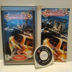 Videojuegos y Consolas: JUEGO PSP - PES 2011 NEED FOR SPEED CARBONO DOMINA LA CIUDAD. Lote 206431377