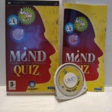 Videojuegos y Consolas: JUEGO PSP - MIND QUIZ EXERCISE YOUR MIND. Lote 206431727
