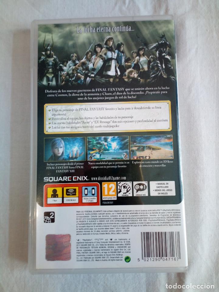 Videojuegos y Consolas: 42-JUEGO PSP DISSIDIA, final fantasy 12, con manual y caja. - Foto 2 - 211515709
