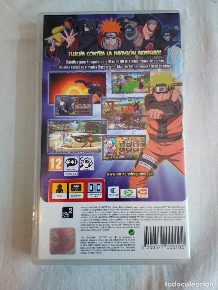 Videojuegos y Consolas: 40-JUEGO PSP NARUTO ULTIMATE NINJA HEROES 3, con manual y caja, bandai - Foto 2 - 211515854