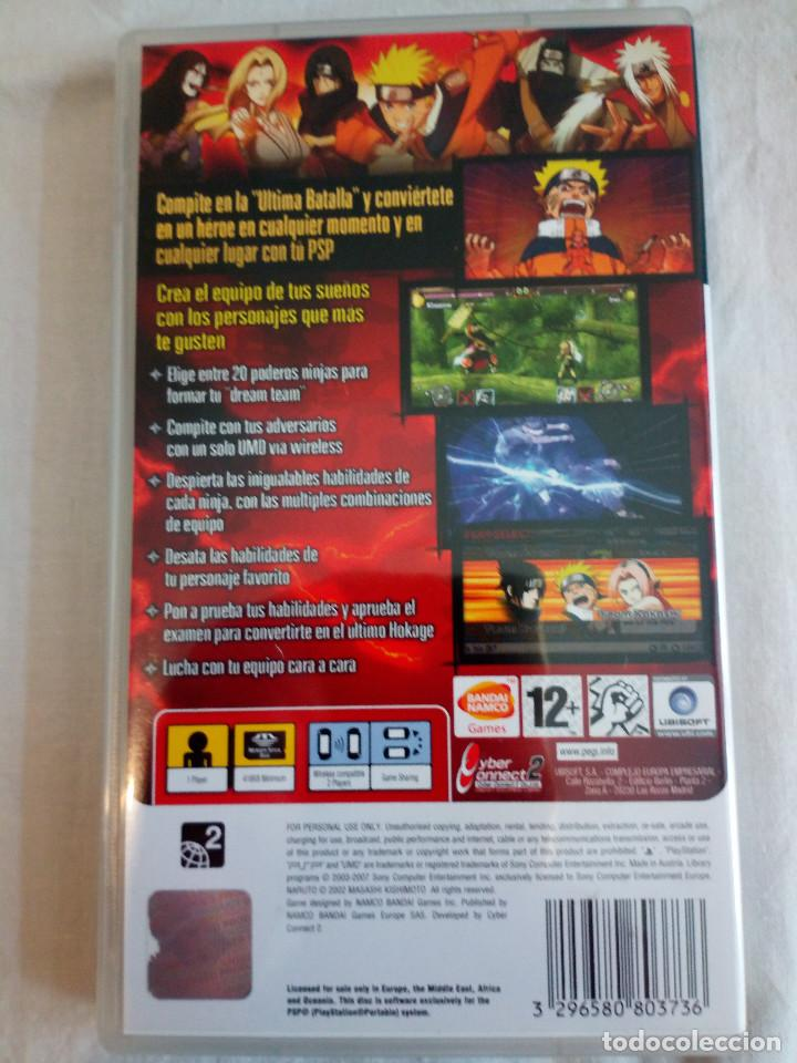 Videojuegos y Consolas: 37-JUEGO PSP NARUTO ULTIMATE NINJA HEROES, bandai, con manual y caja. - Foto 2 - 211575309