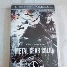 Videojuegos y Consolas: 39-JUEGO PSP METAL GEAR SOLID, PEACE WALKER, CON MANUAL Y CAJA.. Lote 211624731