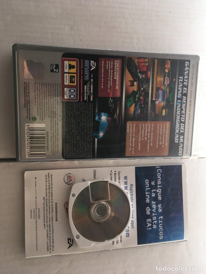 Videojuegos y Consolas: NEED FOR SPEED UNDERGROUND RIVALS UNDER GROUND PSP PLATINUM KREATEN - Foto 2 - 211895236