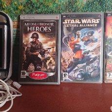 Jeux Vidéo et Consoles: LOTE PSP 3004, CON CARGADOR Y FUNDA NO ORIGINAL, MÁS 3 SÚPER JUEGOS QUE FUNCIONAN PERFECTAMENTE. Lote 213191971