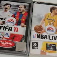Videojuegos y Consolas: G-22 LOTE DE 2 JUEGOS DE PSP NBA LIVE 09 Y FIFA 11. Lote 213424278