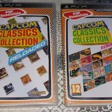 Videojuegos y Consolas: 2 JUEGOS PSP CAPCOM CLASSICS COLLECTION RELOADED Y REMIXED PAL ESPAÑA. Lote 213959233