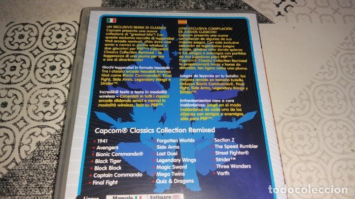 Videojuegos y Consolas: 2 juegos PSP CAPCOM CLASSICS COLLECTION RELOADED Y REMIXED PAL ESPAÑA - Foto 2 - 213959233