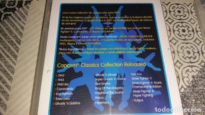 Videojuegos y Consolas: 2 juegos PSP CAPCOM CLASSICS COLLECTION RELOADED Y REMIXED PAL ESPAÑA - Foto 3 - 213959233