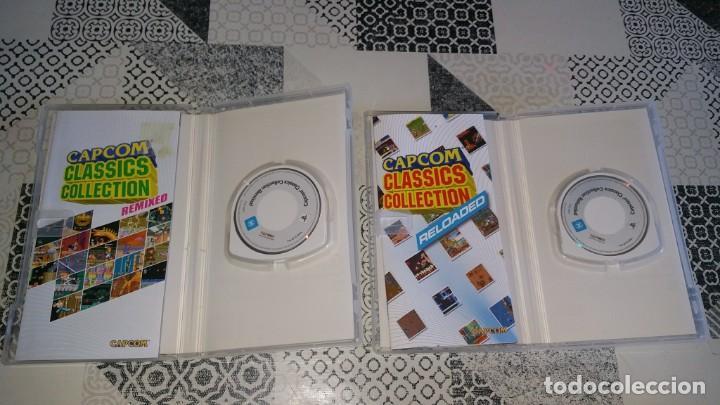 Videojuegos y Consolas: 2 juegos PSP CAPCOM CLASSICS COLLECTION RELOADED Y REMIXED PAL ESPAÑA - Foto 4 - 213959233