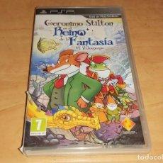Videojuegos y Consolas: GERONIMO STILTON JUEGO SONY PSP - MYTRAN WARS-RAINBOW SIX-EYEPET (COMPRA MINIMA 15 EUR). Lote 214739668