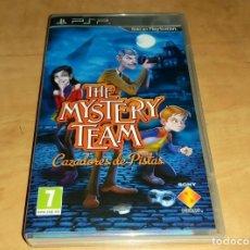 Videojuegos y Consolas: THE MYSTERT TEAM JUEGO SONY PSP - MYTRAN WARS-EYEPET- GERONIMO STILTON (COMPRA MINIMA 15 EUR). Lote 215207015