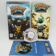 Videojuegos y Consolas: JUEGO PSP - RATCHET Y CLANK, EL TAMAÑO IMPORTA. Lote 217012233