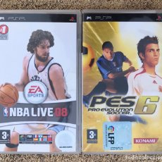 Videojuegos y Consolas: LOTE 2 JUEGOS SONY PSP NBA LIVE 08 2008 Y PRO EVOLUTION SOCCER PÈS 6 FUTBOL LFP. Lote 219018928