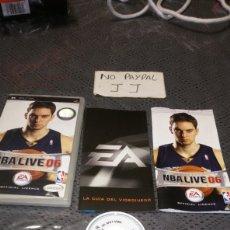 Videojuegos y Consolas: COMPLETO NBA LIVE 06 PSP ES SPORTS PAU GASOL EN PORTADA. Lote 220611553