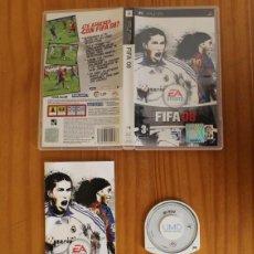 Videojuegos y Consolas: FIFA 08. JUEGO PSP SONY PLAYSTATION PORTABLE EA SPORTS. Lote 221531498