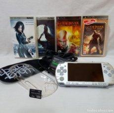 Videojuegos y Consolas: CONSOLA SONY PSP-2004 ICE SILVER CON JUEGOS Y ACCESORIOS ORIGINALES FUNCIONA EXCELENTE ESTADO. Lote 221660581