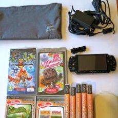 Videojuegos y Consolas: LOTE PSP SLIM & LITE CON JUEGOS ACCESORIOS COMPLETO Y FUNCIONANDO. Lote 222097151