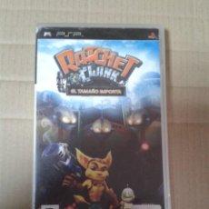 Videojuegos y Consolas: PSP RATCHET & CLANK EL TAMAÑO IMPORTA. Lote 222112077