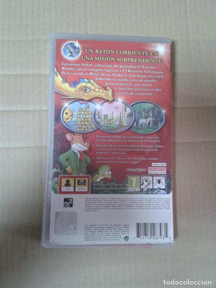 Videojuegos y Consolas: GERONIMO STILTON REGRESO AL REINO DE LA FANTASIA PSP - Foto 2 - 222113305