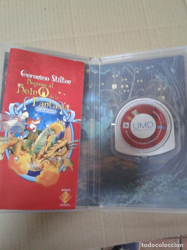 Videojuegos y Consolas: GERONIMO STILTON REGRESO AL REINO DE LA FANTASIA PSP - Foto 3 - 222113305