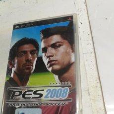 Videojuegos y Consolas: PES 2008 . PRO EVOLUTION SOCCER 2008 . KONAMI . PSP PORTABLE . ESPAÑA. Lote 222393996