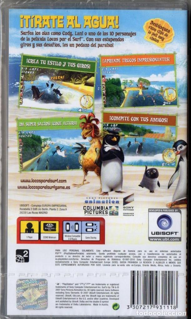 Videojuegos y Consolas: LOCOS POR EL SURF - JUEGO PSP TOTALMENTE EN CASTELLANO (PRECINTADO) - Foto 2 - 222418280