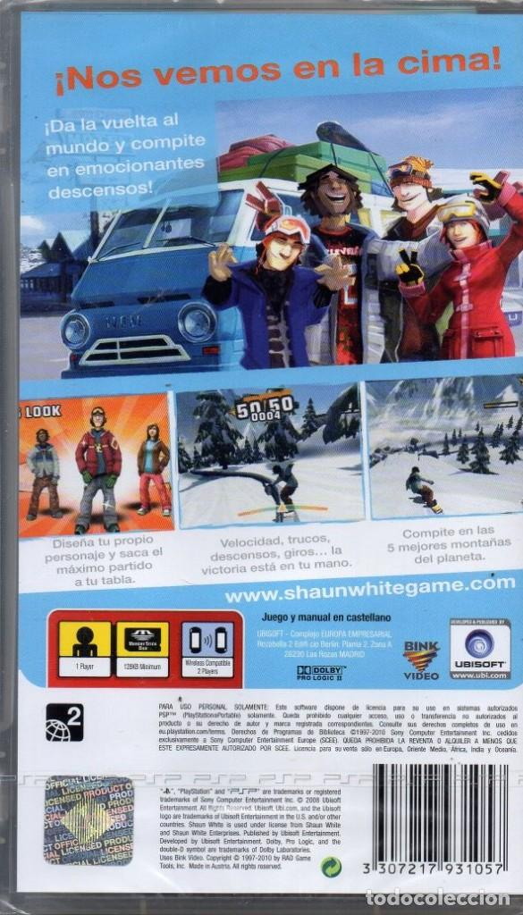 Videojuegos y Consolas: SHAUNWHITE SNOWBOARDING - JUEGO PSP TOTALMENTE EN CASTELLANO (PRECINTADO) - Foto 2 - 222418508