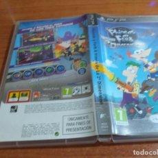 Videojuegos y Consolas: PHINEAS Y FERB A TRAVES DE LA 2º DIMENSION PSP PAL ESP. Lote 228269747