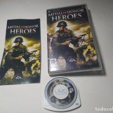 Jeux Vidéo et Consoles: MEDAL OF HONOR HEROES ( PLAYSTATION PSP - PAL - ESP). Lote 230756410
