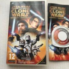 Jeux Vidéo et Consoles: STAR WARS THE CLONE WARS HEROES DE LA REPUBLICA STARWARS PSP PLAYSTATION PORTABLE KREATEN. Lote 232554260