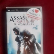 Videojogos e Consolas: JUEGO SONY PSP PLAYSTATION PORTABLE. ASSASSINS CREED BLOODLINES. COMPLETO. Lote 238268090