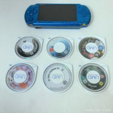 Jeux Vidéo et Consoles: CONSOLA PLAYSTATION PORTATIL - PSP 3004 AZUL + 6 JUEGOS - FUNCIONA - VER DESCRIPCIÓN. Lote 241653850