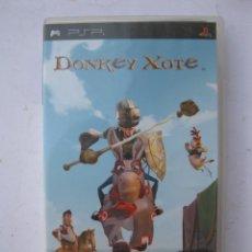 Videojuegos y Consolas: DONKEY XOTE - JUEGO PARA PSP - CON MANUAL DE INSTRUCCIONES.. Lote 245220195