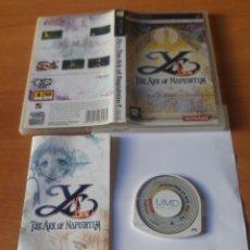Videojuegos y Consolas: YS THE ARK OF NAPISHTIM FALCOM PSP PLAYSTATION PORTABLE. Lote 246516970