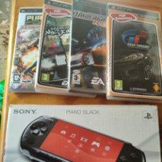 Videojuegos y Consolas: PSP EN CAJA + 4 JUEGOS ORIGINALES - FUNCIONANDO.. Lote 248029505