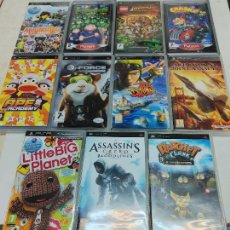 Videojuegos y Consolas: LOTE 11 CAJAS VACIAS DE JUEGOS PSP PLAY STATION PORTATIL RATCHET ASSASSINS JAK AND DAXTER INDIANA---. Lote 253277765