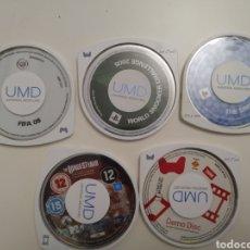 Videojuegos y Consolas: ESTUCHE CON 5 JUEGOS PSP. FIFA 08, THE SIMS 2,.ETC..2004.. Lote 253732430