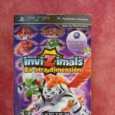 Videojuegos y Consolas: JUEGO PSP INVIZIMALS LA OTRA DIMENSIÓN: ZONA DE SOMBRAS CON CÁMARA RAR NUEVO A ESTRENAR. Lote 253809985