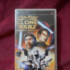 Videojuegos y Consolas: CAJA JUEGO PSP STAR WARS THE CLONE WARS HEROES DE LA REPUBLICA.. Lote 254898485