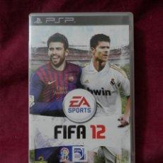 Videojuegos y Consolas: CAJAS DE JUEGOS PSP DE FUTBOL. FIFA 12 Y PES2012 CON FOLLETOS EN SU INTERIOR.. Lote 254966565