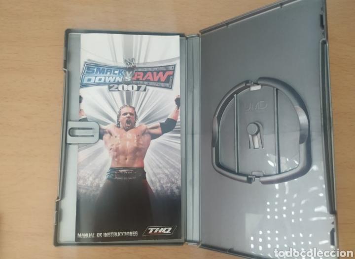 Videojuegos y Consolas: Caja juego PSP SmackDown vs Raw 2007 - Foto 2 - 257617905