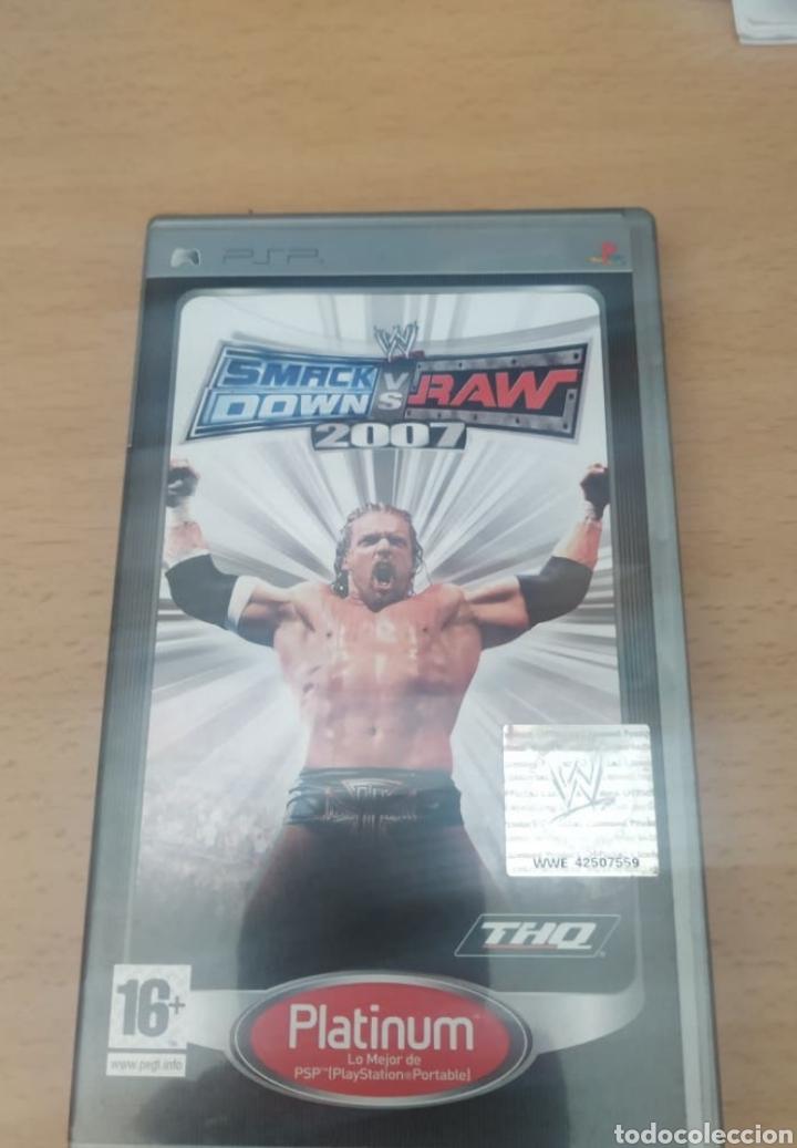 CAJA JUEGO PSP SMACKDOWN VS RAW 2007 (Juguetes - Videojuegos y Consolas - Sony - Psp)