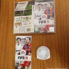 Videojuegos y Consolas: JUEGO PSP FIFA 11. PLAYSTATION PORTABLE PAL ESPAÑA CON MANUAL. Lote 261662180