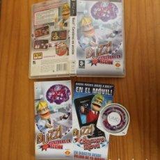 Videojuegos y Consolas: JUEGO PSP BUZZ CEREBROS EN ACCION. PLAYSTATION PORTABLE PAL ESPAÑA CON MANUAL. Lote 261662525