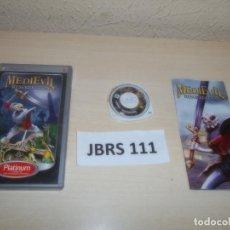 Videojuegos y Consolas: PSP - MEDIEVIL RESURRECCION , PAL ESPAÑOL , COMPLETO. Lote 262056495
