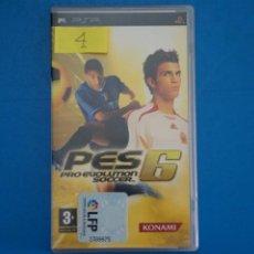Videojuegos y Consolas: VIDEOJUEGO DE PLAYSTATION PSP PES 6 PRO EVOLUTION SOCCER AÑO 2006 Nº 4. Lote 265169599