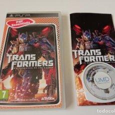 Videojuegos y Consolas: TRANSFORMERS: LA VENGANZA DE LOS CAIDOS - PSP. Lote 268172069