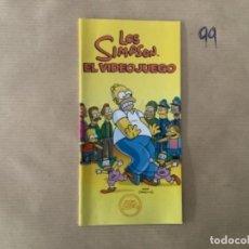 Videojuegos y Consolas: H1. MANUAL LOS SIMPSONS EL VIDEOJUEGO PSP. Lote 269413198