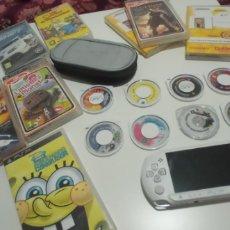 Videojuegos y Consolas: PSP STREET BLANCA NUEVA APENAS USO, 9 JUEGOS CARGADOR Y FUNDA PSP. Lote 269495838