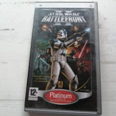Videojuegos y Consolas: STAR WARS BATTLE FRONT PSP SONY COMPLETO. Lote 270566063